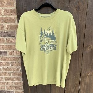 Life Is Good Festival 2013 Green Graphic T-Shirt M